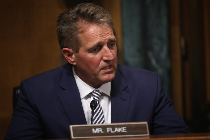 Illustration for article titled Jeff Flake Continues His Legacy of Being the Flakiest Senator on Capitol Hill; Will Vote Yes on Brett Kavanaugh