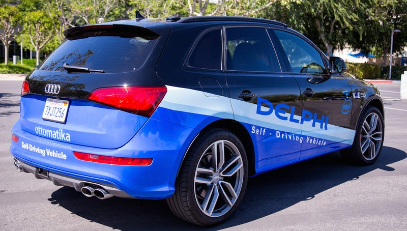 Delphi's autonomous car outfitted with Intel technology.   Image: Intel