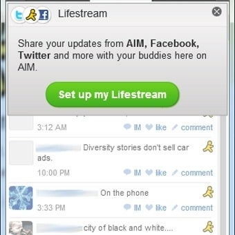 Illustration for article titled AIM Integrates Facebook Chat, Status Updates