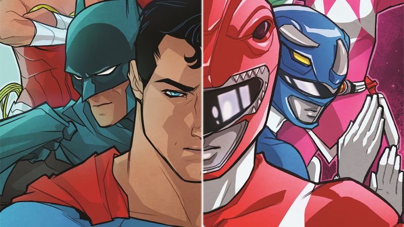 Illustration for article titled The Justice League and Power Rangers Are Teaming Up In a New Comic