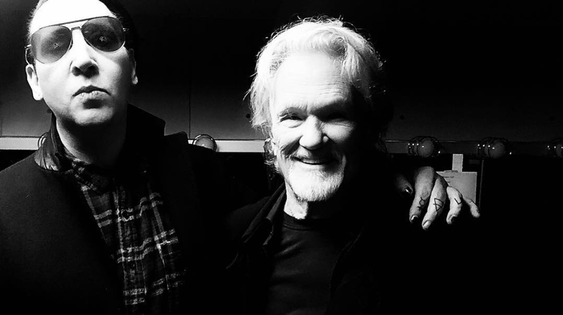 Marilyn Manson and Kris Kristofferson. Dennis Quaid took the picture, probably,