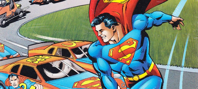 Illustration for article titled Wait, Superman Once Built A NASCAR Racecar?
