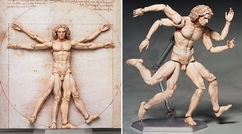 Illustration for article titled Da Vinci's Vitruvian Man Proves Action Figures Can Be Art