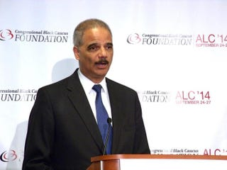 Attorney General Eric Holder at the Congressional Black Caucus Annual Legislative Conference, September 26, 2014 in Washington DC.Danielle Belton