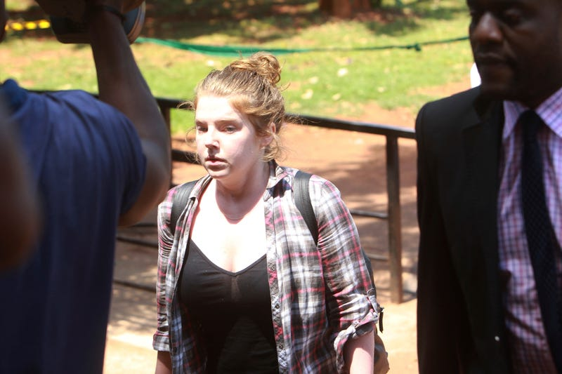 Martha O'Donovan appears at the Harare Magistrate's Court on Nov. 4, 2017, in Zimbabwe.  (Tsvangirayi Mukwazhi/AP Images)