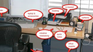 Illustration for article titled Here's How Getting Things Done Creator David Allen Organizes His Workspace