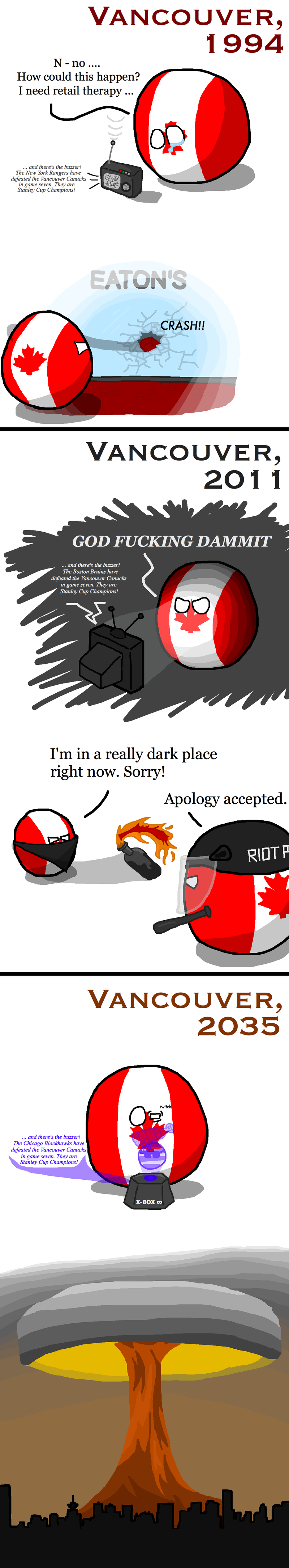 Illustration for article titled Daily Polandball: The Future of Vancouver and the Canucks.