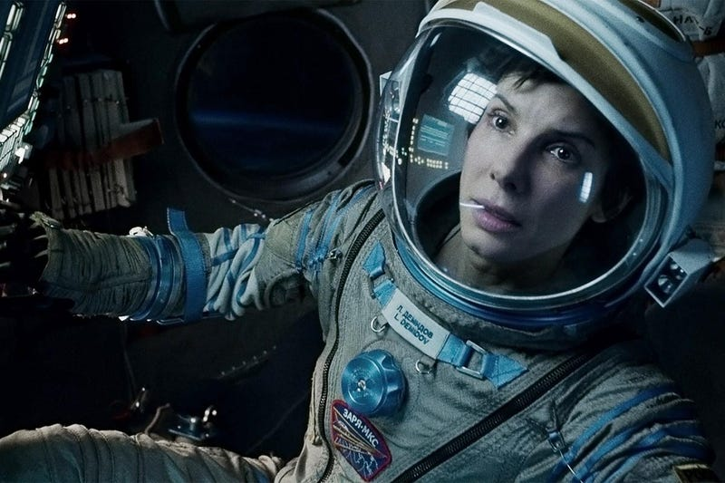Illustration for article titled ISS Astronauts Chose Gravity For Their (Meta) Movie Night Tonight
