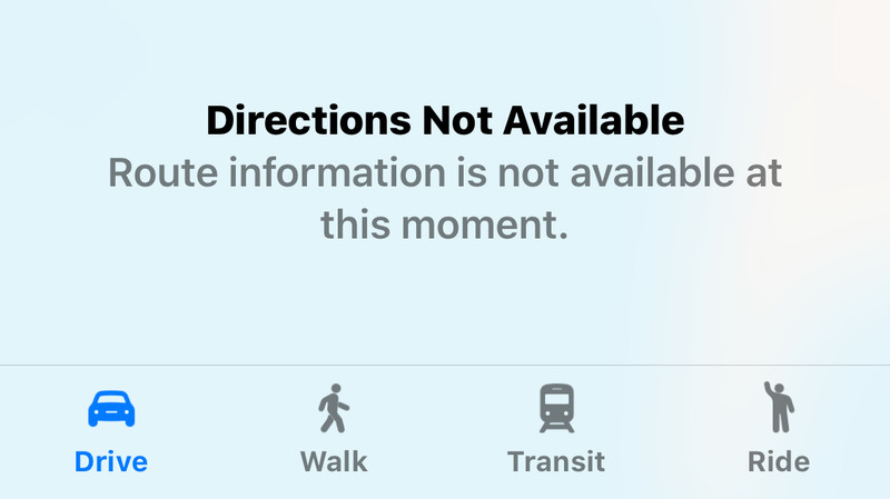 Illustration for article titled Apple Maps Was Broken for Hours Today??
