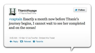 Illustration for article titled Commemorate the 100th Anniversary of the Titanic's Sinking by Reliving it Through Twitter