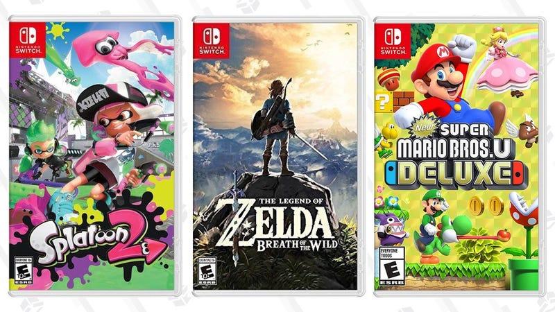 Splatoon 2 | $40 | Daily Steals (Facebook)The Legend of Zelda: Breath of the Wild | $40 | Daily Steals (Facebook)New Super Mario Bros. U Deluxe | $45 | Daily Steals (Facebook)