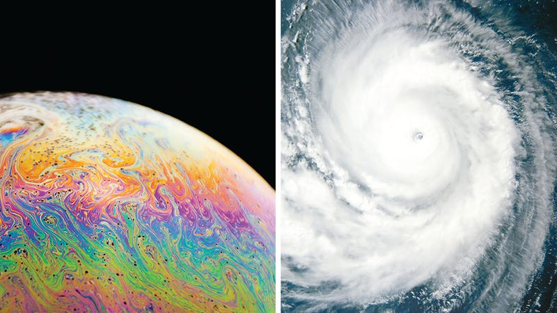 Illustration for article titled Scientists believe soap bubbles can predict typhoons and hurricanes