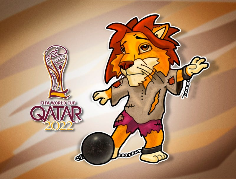 Illustration for article titled Qatar Unveils Indentured Mascot For 2022 World Cup