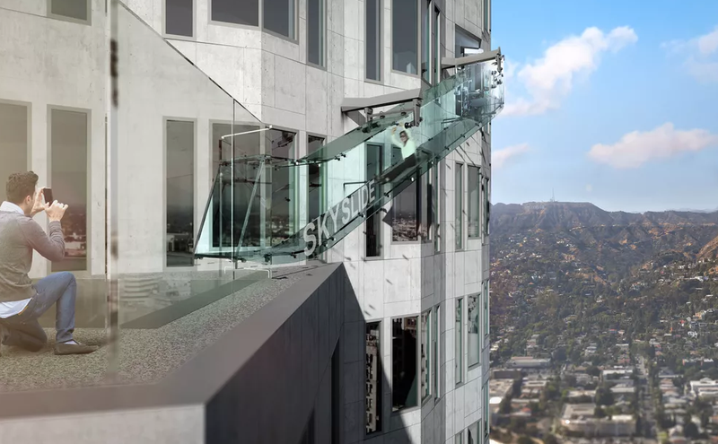 SMILE, YOU'RE ONLY 1,000 FEET ABOVE LA! Renderings by Gensler, Courtesy OUE Ltd.