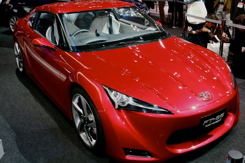 Illustration for article titled Toyota FT-86 Concept: The AE86 Is Back In The Red, Metallic Flesh