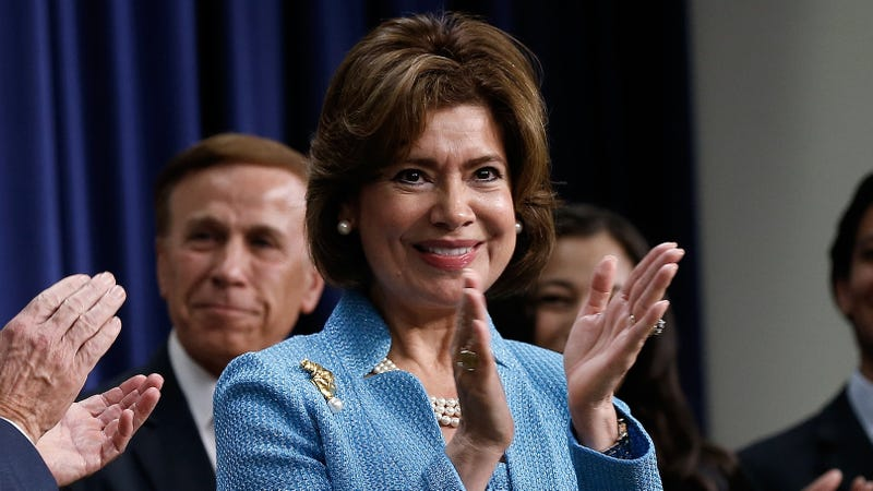 Contreras-Sweet is sworn in as the head of the Small Business Administration. (Photo: Win McNamee/Getty Images)