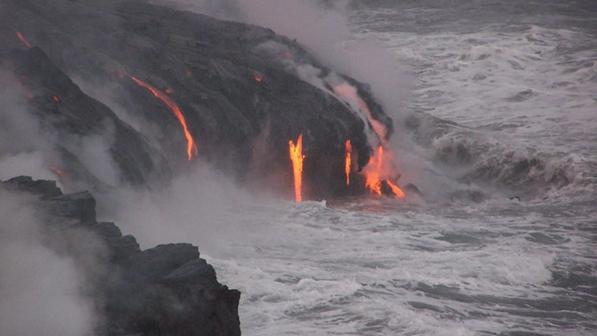 This Is What Happens When Lava Meets The Sea