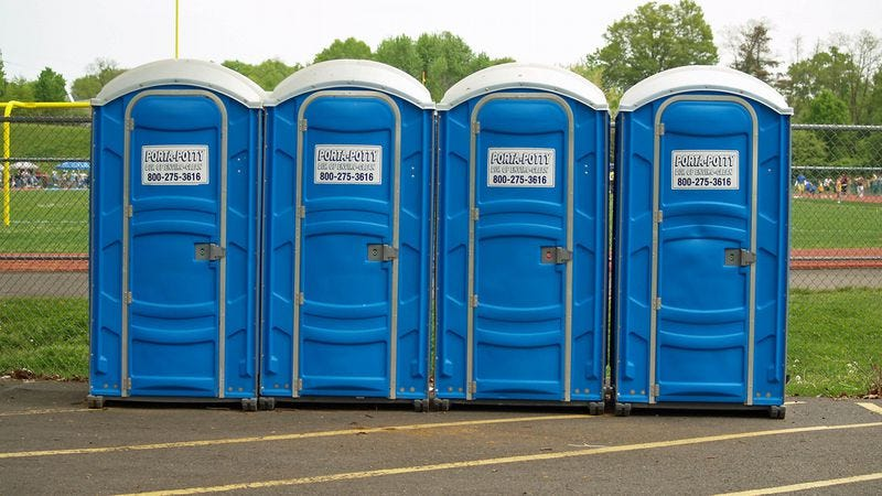 Illustration for article titled Here's how to know, with mathematical certainty, that you've found the cleanest Porta-Potty