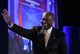 Herman Cain courts controversy with 2012 campaign. (Getty)