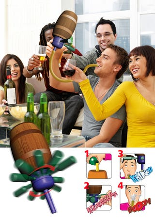 Illustration for article titled Russian Roulette Beer Bong Makes a Game Out of Getting Liver Disease