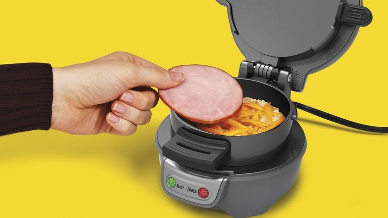 The Hamilton Beach breakfast sandwich maker