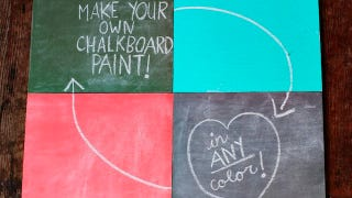 Illustration for article titled Mix Your Own Chalkboard Paint in Any Color You Want