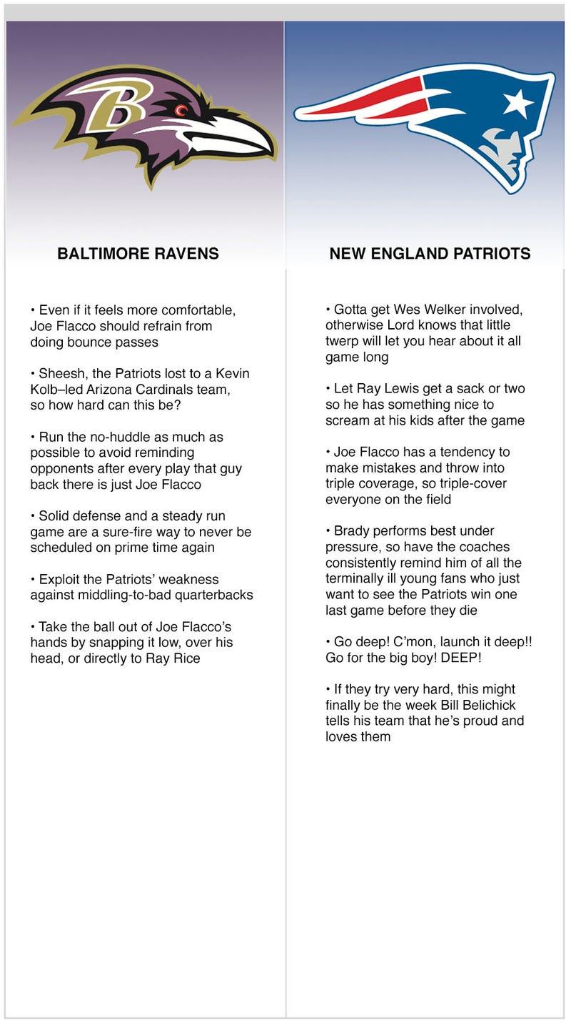 Illustration for article titled Patriots vs. Ravens