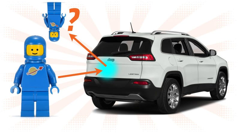 Illustration for article titled Why Is Your Reflection Sometimes Upside-Down When You See It On A Car?