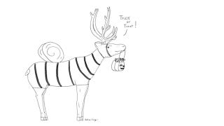 Illustration for article titled A Sexy Reindeer, Dressed As A Bumblebee