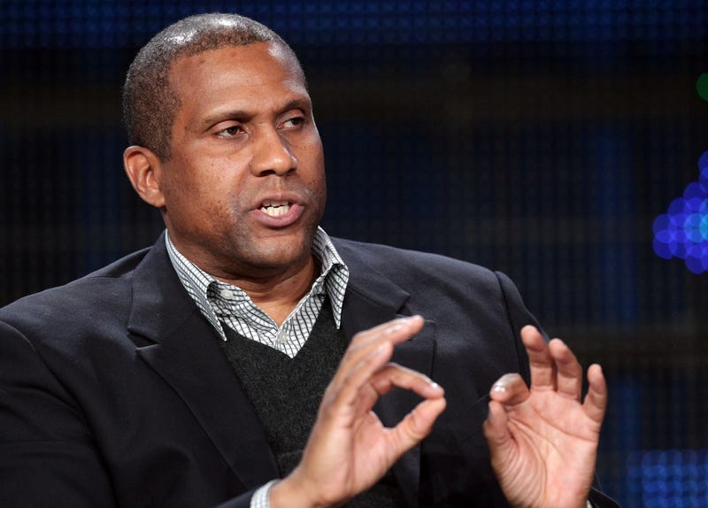 Talk show host Tavis Smiley speaks during the 'Tavis Smiley' panel at the PBS portion of the 2011 Winter TCA press tour held at the Langham Hotel on Jan. 9, 2011, in Pasadena, Calif.