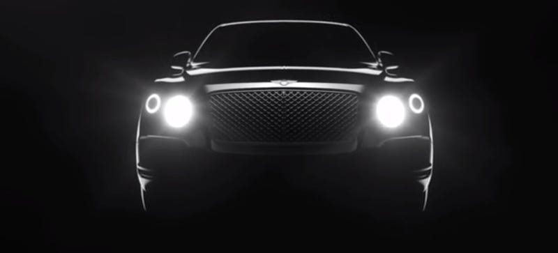 Illustration for article titled Bentley Teases New SUV With Light Teaser Video, Is Such A Tease