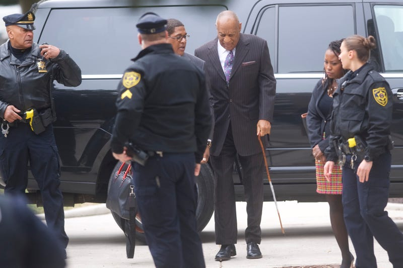 Bill Cosby arrives at the Montgomery County Courthouse for the first day of his sexual assault retrial on April 9, 2018, in Norristown, Pa. A former Temple University employee alleges that the entertainer drugged and molested her in 2004.