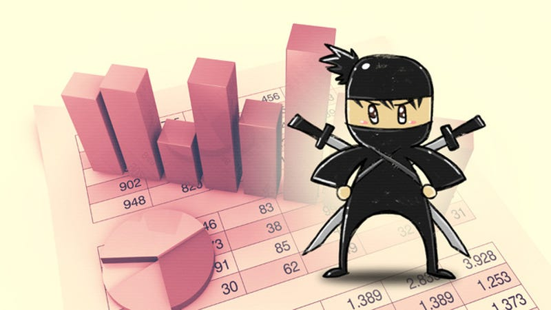 Illustration for article titled Four Skills That Will Turn You Into a Spreadsheet Ninja