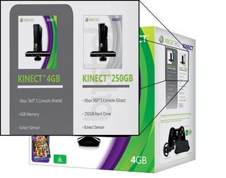 Illustration for article titled 250GB Kinect Bundle Spotted