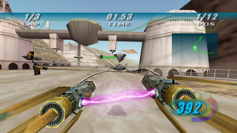 Illustration for article titled The podracing video game holds up way better than Star Wars' actual podrace