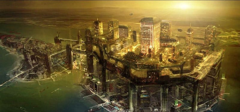 Illustration for article titled Video Games Are The Forefront Of Futuristic City Design