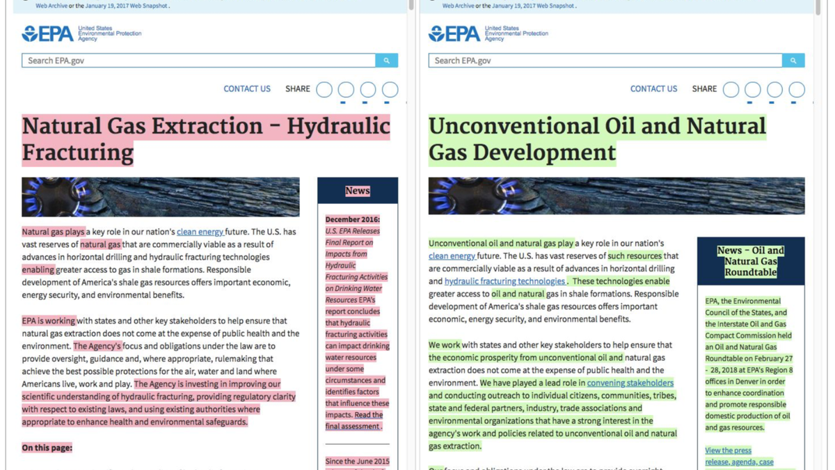 The EPA Updated its Fracking Pages With Oil and Gas Industry