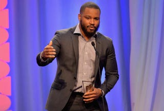 Director Ryan Coogler accepts an award for his movie Creed at the AARP's Movies for Grownups Awards Feb. 8, 2016, in Beverly Hills, Calif.Earl Gibson III/Getty Images