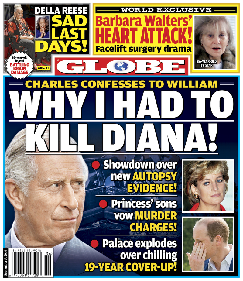 Illustration for article titled Updated With Cover.Are British tabloids as obsessed with death of Princess Di as American Tabloids?