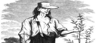 Illustration for article titled Johnny Appleseed was real, and he got frontiersmen hammered