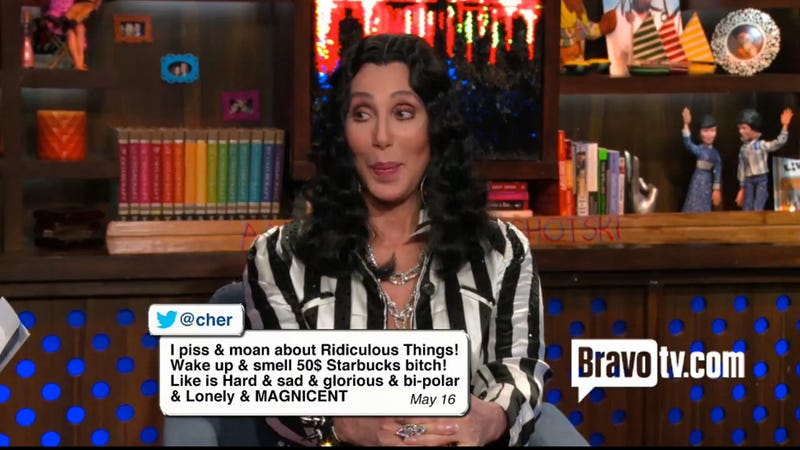 Illustration for article titled Cher Translates Her Crazy Tweets and It Is the Absolute Best