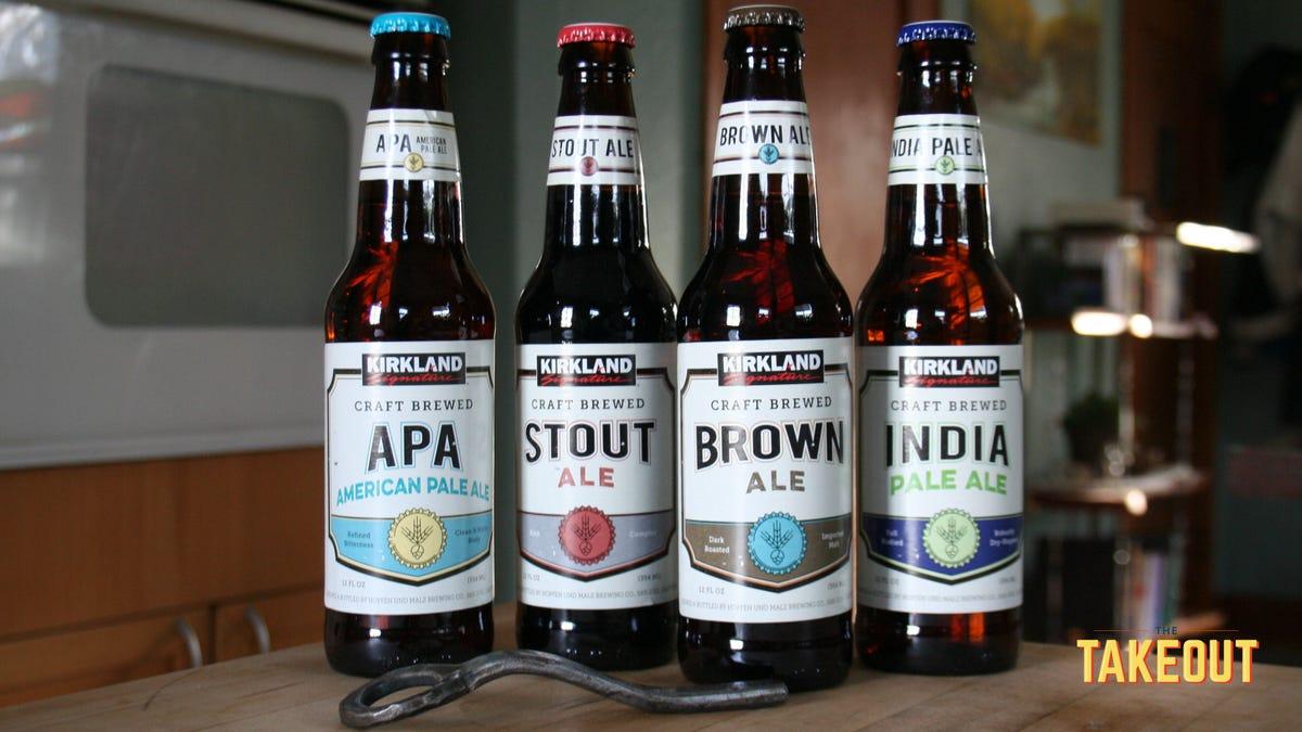 """Taste-testing Costco's $20 """"craft brewed"""" beer variety pack"""