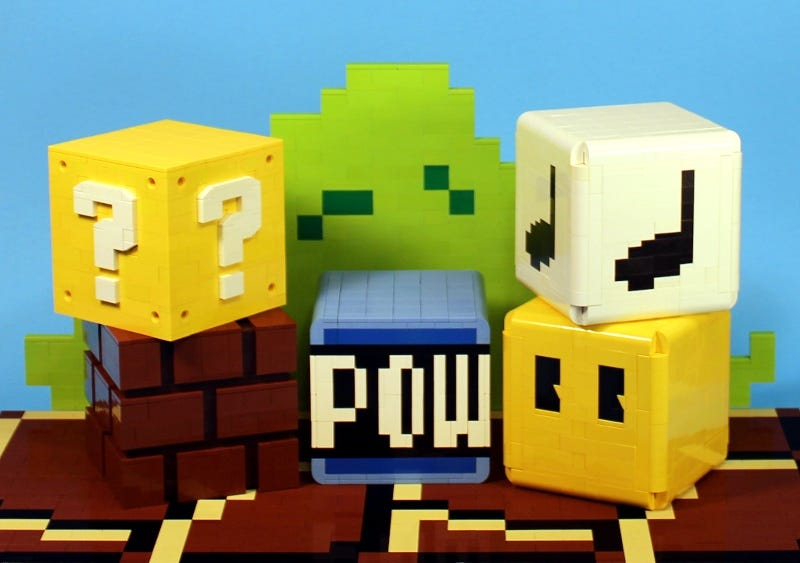 Illustration for article titled Power-up with these Mario Brothers Lego blocks