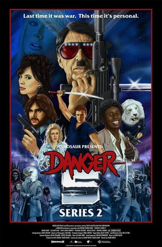 Illustration for article titled This glorious new Danger 5 poster gets straight to the biscuits