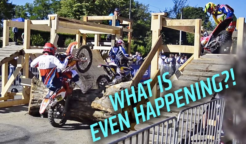 Illustration for article titled Behold The Mother Of All Dirt Bike Crash Compilations