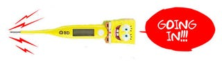 Illustration for article titled SpongeBob Squarepants Thermometer Wants to Sing in the Wrong Place