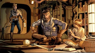 Illustration for article titled Meet Annikin Starkiller and his lazer sword in the comic adaptation of George Lucas' insane first draft of Star Wars