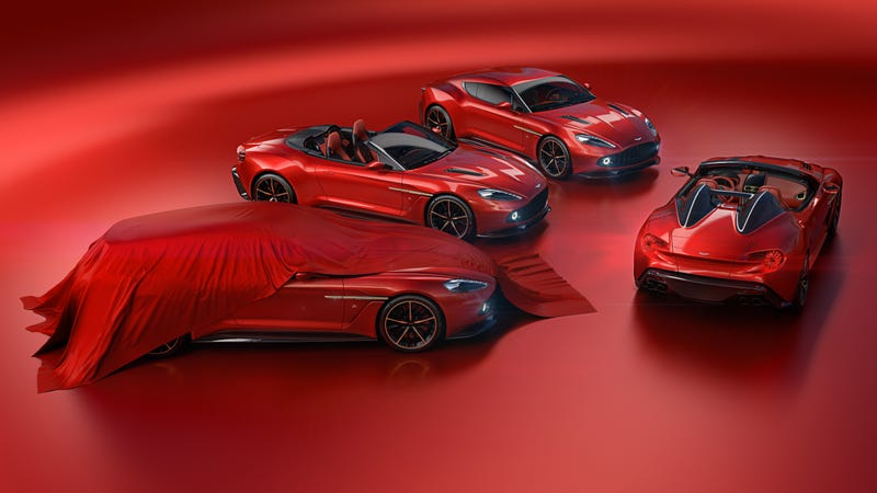 Illustration for article titled Holy Shit, Zagato Is Also Making An Aston Martin Vanquish Speedster And Shooting Brake