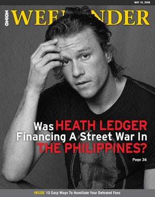 Illustration for article titled Was Heath Ledger Financing A Street War In The Philippines?