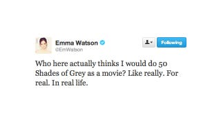 Illustration for article titled Did Anyone Actually Believe That Emma Watson Would Make the 50 Shades Movie?